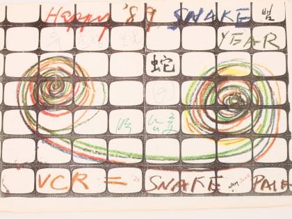 백남준, 1989년 연하장